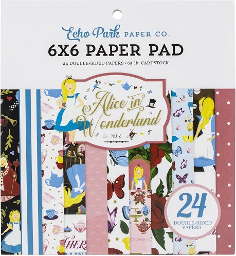 "מארז קארדסטוק 6"" - Alice In Wonderland Double-Sided Paper Pad"