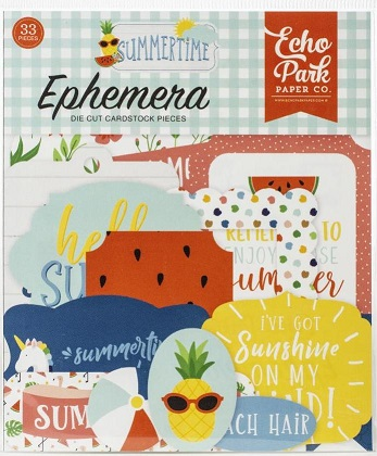 מארז חיתוכי קארדסטוק - Summertime Cardstock Ephemera - Icons