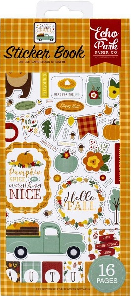 ספר מדבקות קארדסטוק - Sticker Book - Happy Fall