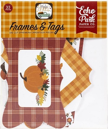 חיתוכי קארדסטוק - Happy Fall Cardstock Ephemera - Frames & Tags