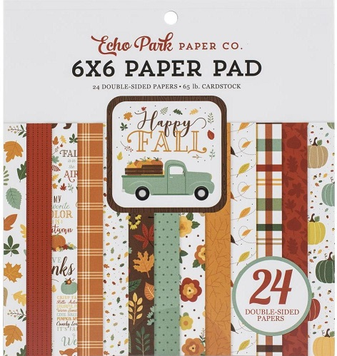"מארז דפי קארדסטוק - Double-Sided Paper Pad 6""X6"" - Happy Fall"