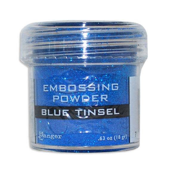 אבקת הבלטה Embossing Powder - Blue Tinsel