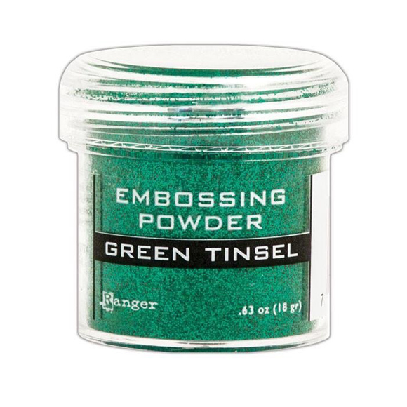 אבקת הבלטה Embossing Powder - Green Tinsel