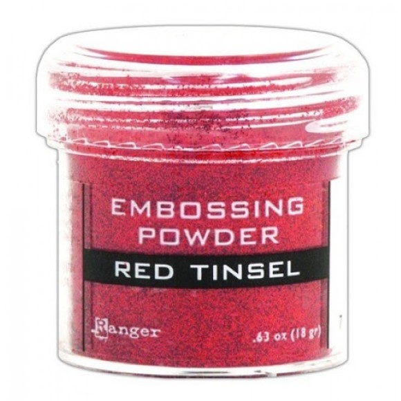 אבקת הבלטה Embossing Powder - Red Tinsel