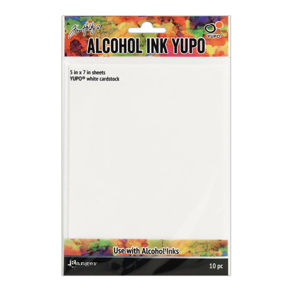 מארז דפים - Alcohol Ink White Yupo Paper