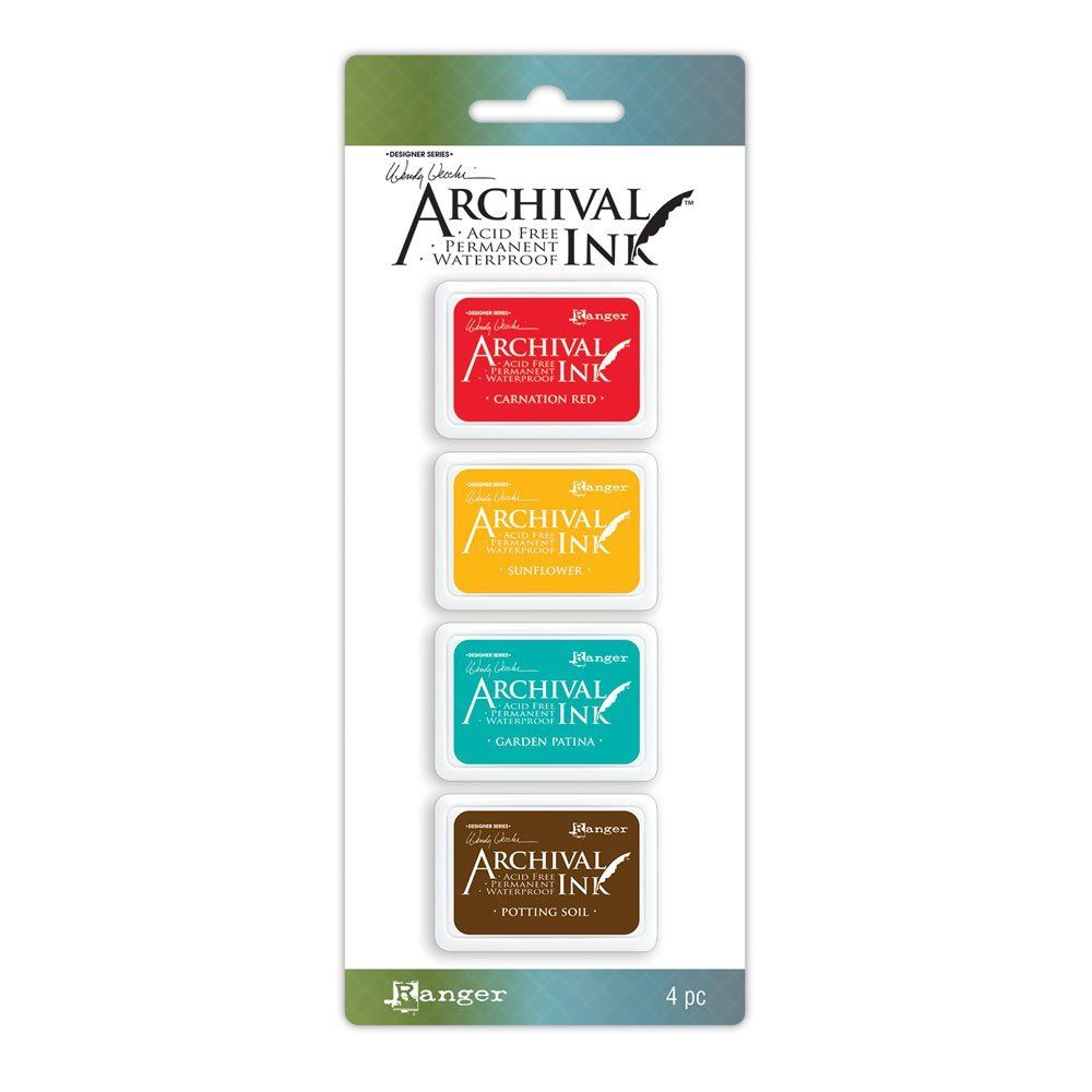 סט 4 כריות דיו #1 Wendy Vecchi Archival Mini Ink Pad