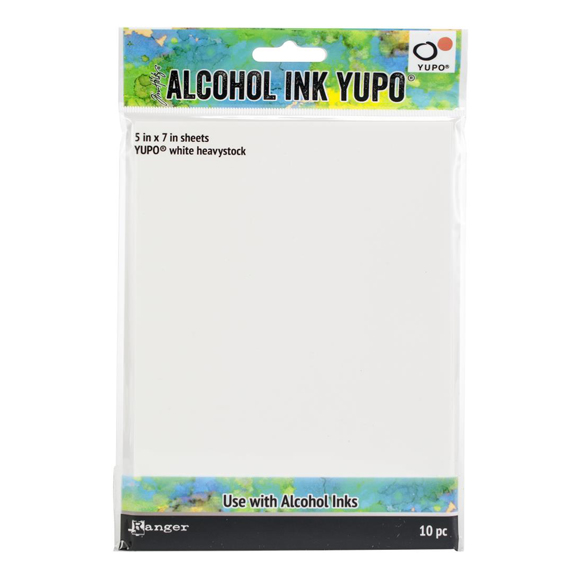 מארז דפים - Alcohol Ink White Yupo Paper 144lb
