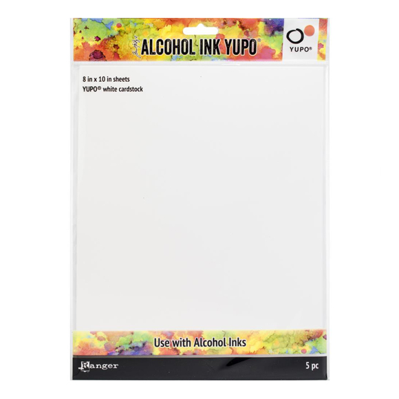 מארז דפים - Alcohol Ink White Yupo Paper 86lb