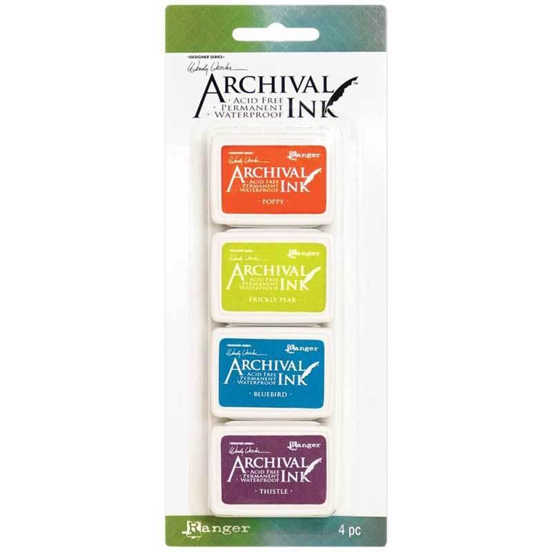 סט 4 כריות דיו #6 Wendy Vecchi Archival Mini Ink Pad