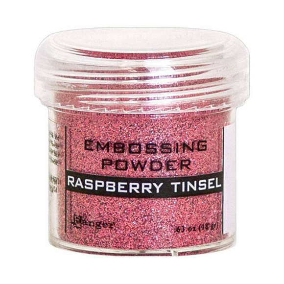 אבקת הבלטה Embossing Powder - Raspberry Tinsel