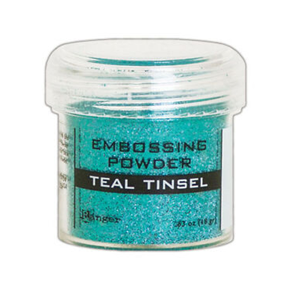 אבקת הבלטה Embossing Powder - Teal Tinsel