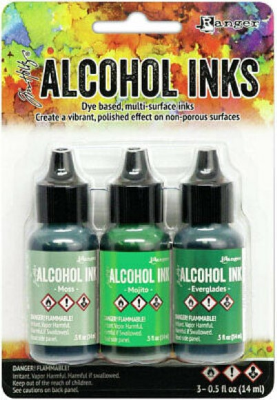 דיו - Ranger Alcohol Ink Set Mint Green Spectrum