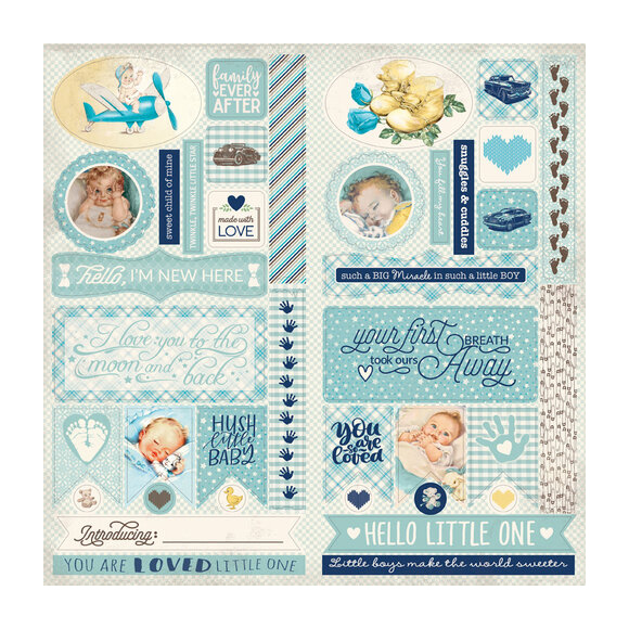 חיתוכי קארדסטוק - Swaddle Boy Collection