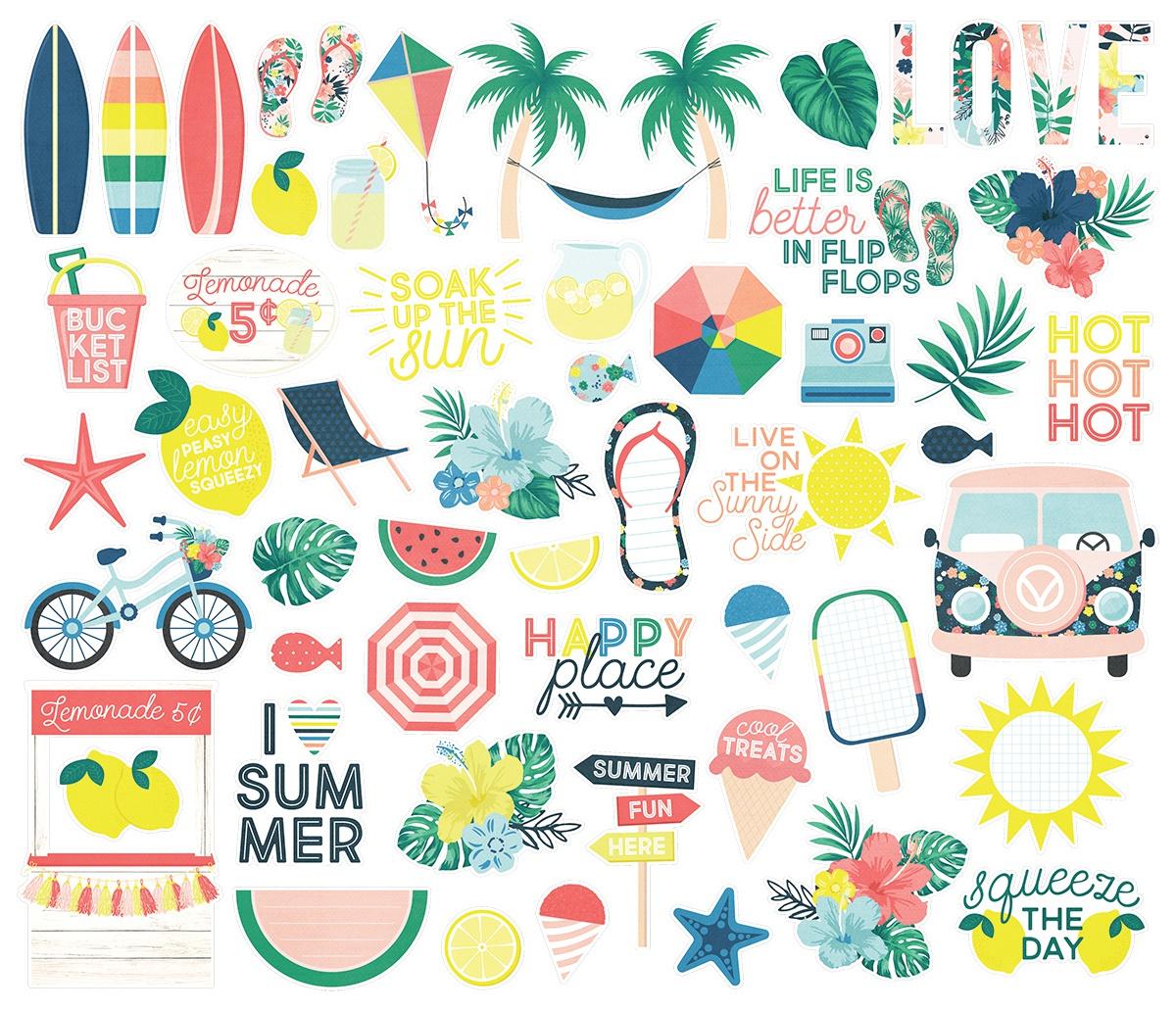 חיתוכי קארדסטוק - Sunshine & Blue Skies - Bits & Pieces