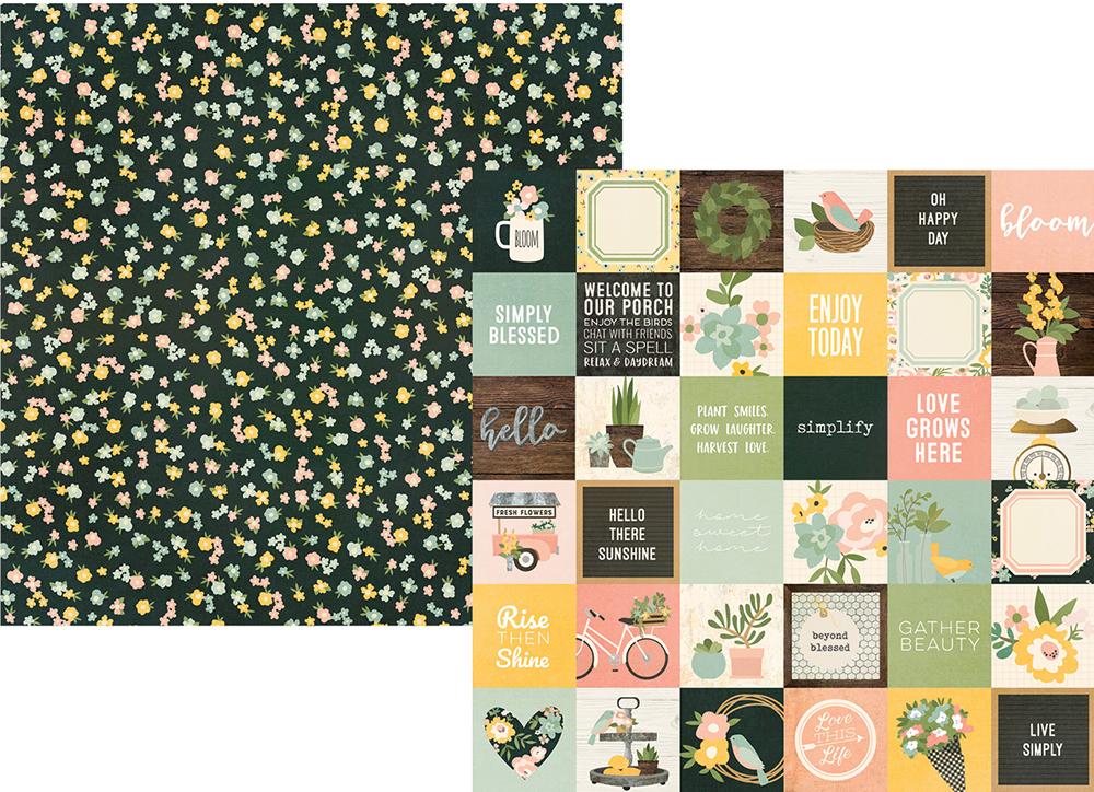 דף קארדסטוק - Spring Farmhouse - 2x2 Elements