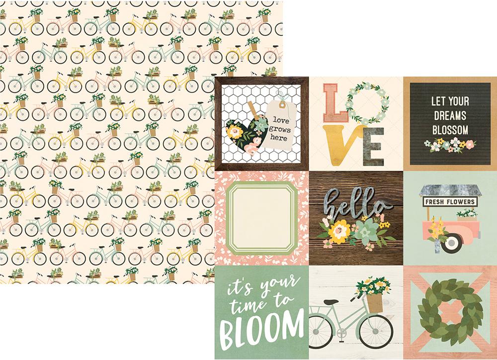 דף קארדסטוק - Spring Farmhouse -4x4 Elements