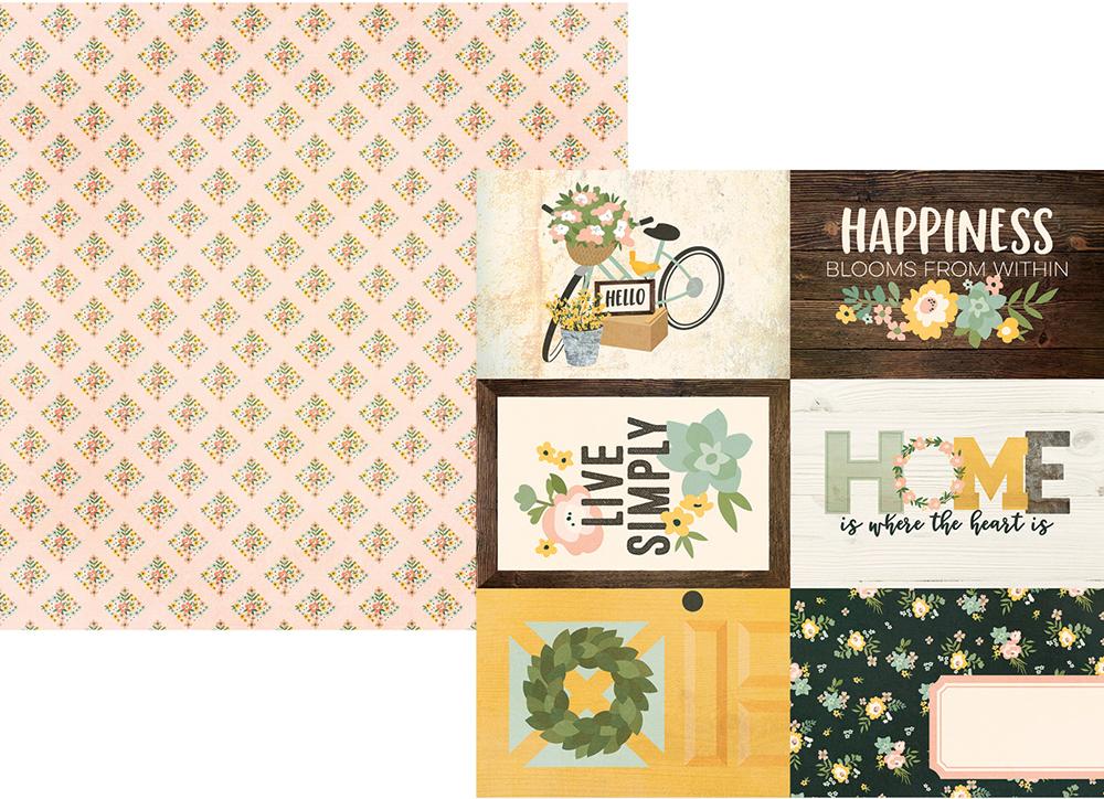 דף קארדסטוק - Spring Farmhouse - 4x6 Elements