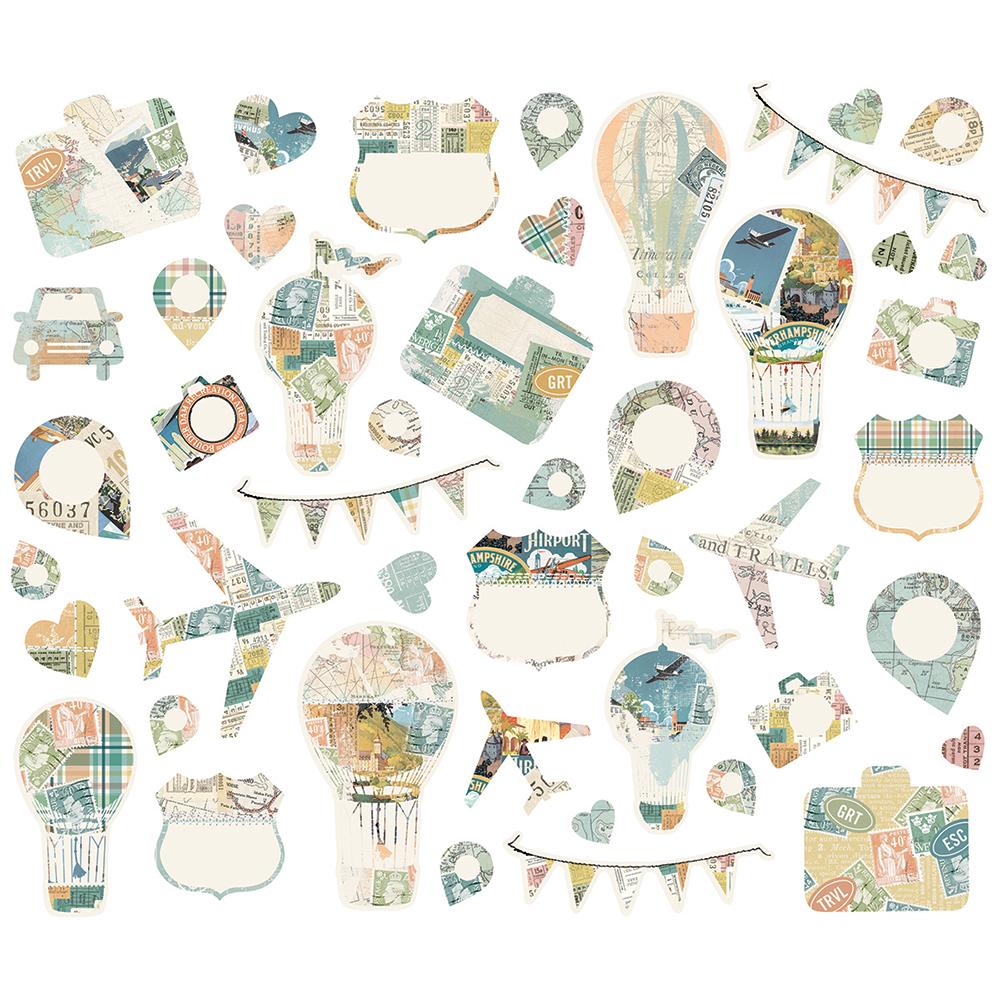 חיתוכי קארדסטוק - SV Traveler Collage Bits & Pieces