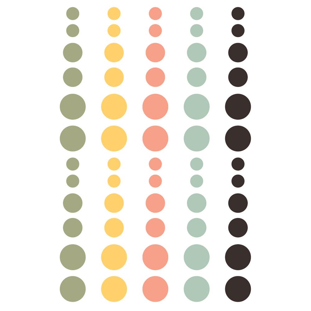 מדבקות אפוקסי - Spring Farmhouse Enamel Dots