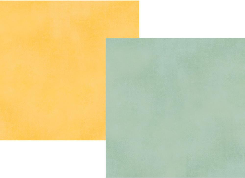 דף קארדסטוק - Spring Farmhouse - Robin's Egg/Yellow