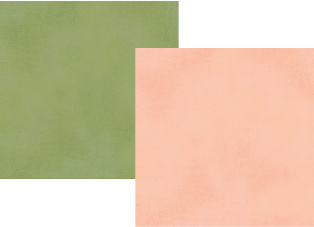 דף קארדסטוק 12 Spring Farmhouse - Blush/Green