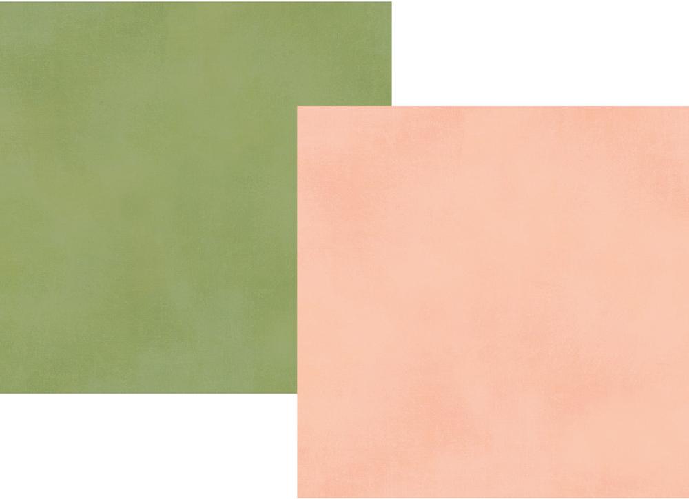 דף קארדסטוק - Spring Farmhouse - Blush/Green