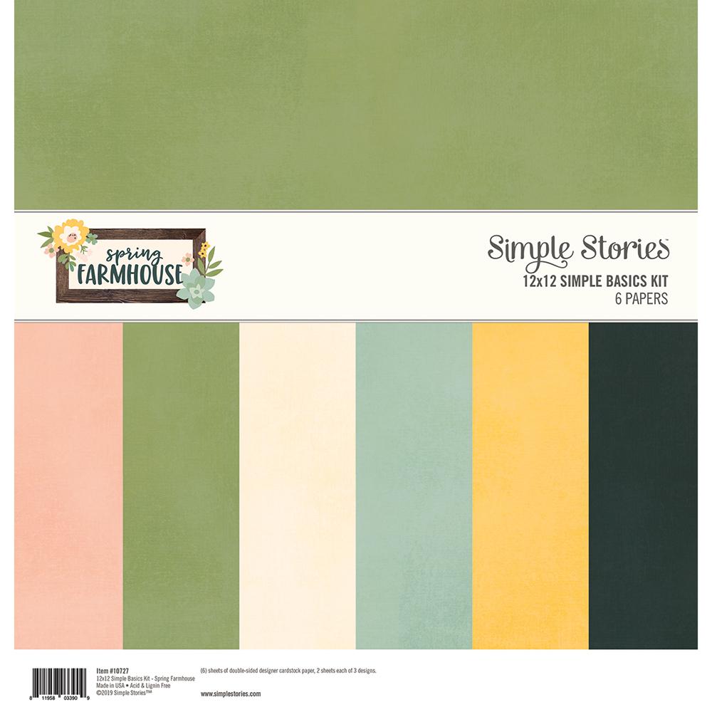 מארז דפי קארדסטוק - Spring Farmhouse Simple Basics Kit