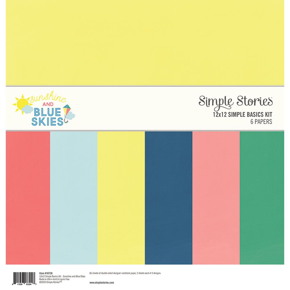 "Sunshine & Blue Skies Simple Basics Kit 12""X12"""