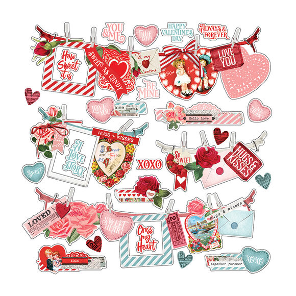 מדבקות Simple Vintage My Valentine - Banner