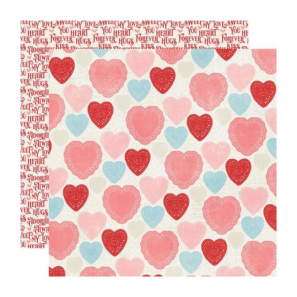 דף קארדסטוק - Heart to Heart