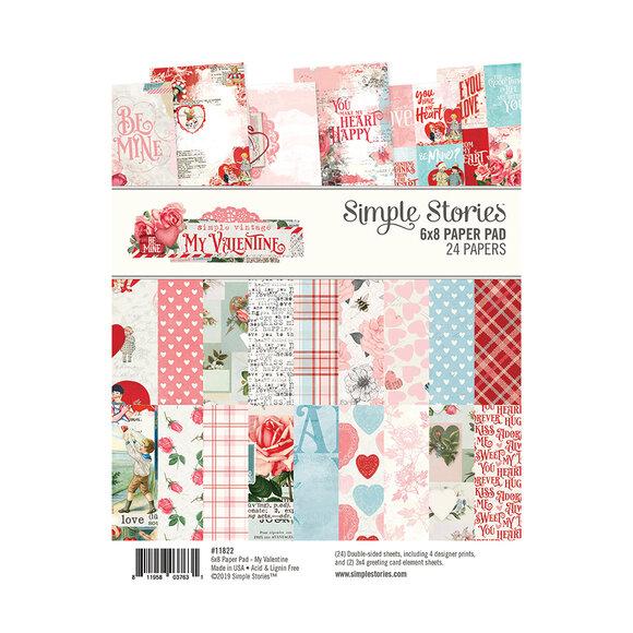 """מארז דפי קארדסטוק """"Simple Vintage My Valentine 6*8"""