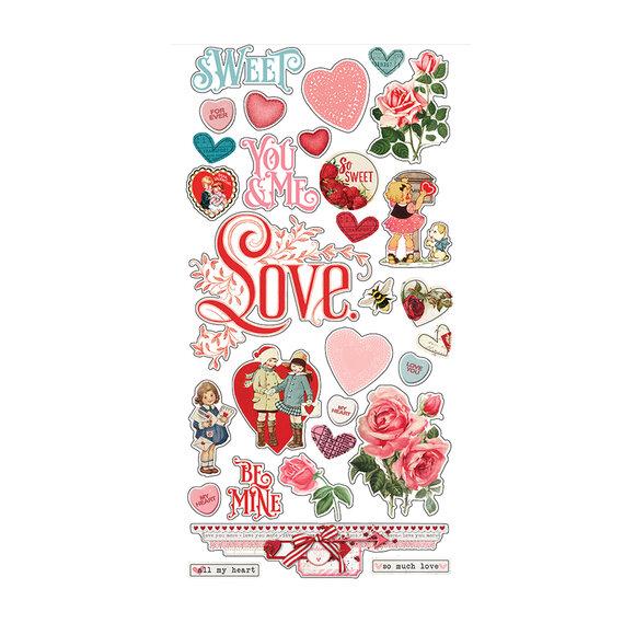 מדבקות צ'יפבורד - Simple Vintage My Valentine