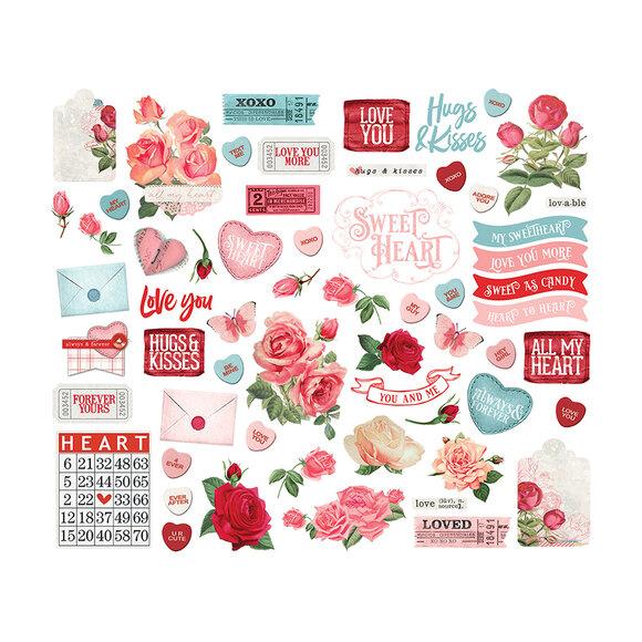 חיתוכי קארדסטוק My Valentine - Bits & Pieces