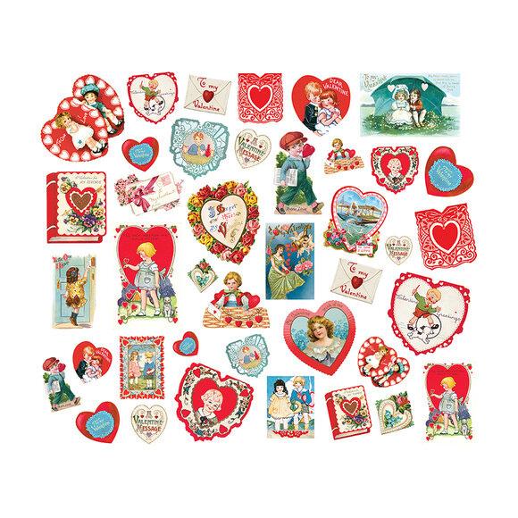 חיתוכי קארדסטוק Simple Vintage My Valentine - Card