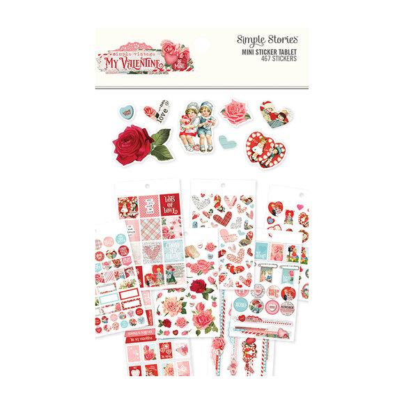 מדבקות - Simple Vintage My Valentine