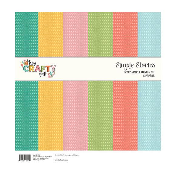 """מארז דפי קארדסטוק """"12 Hey Crafty Girl - Basics Kit"""
