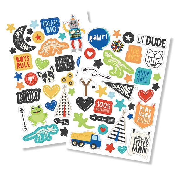 מדבקות פאף - Lil' Dude Puffy Stickers