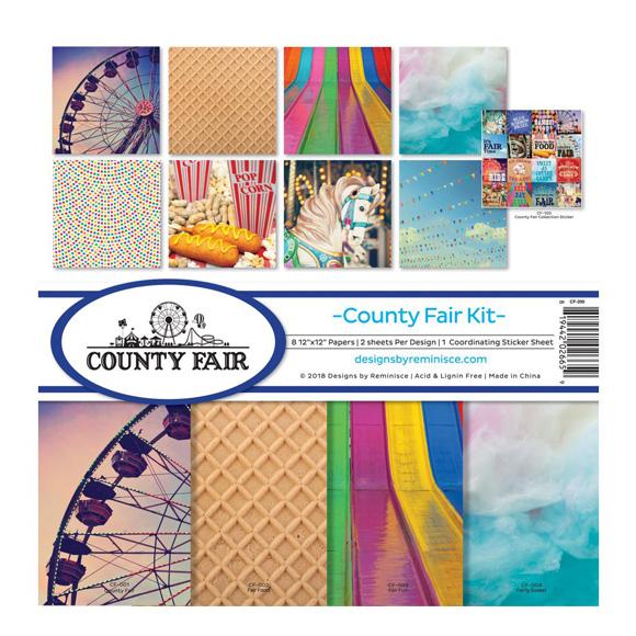 """מארז דפי קארדסטוק """"12 County Fair Kit"""