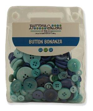 מארז כפתורים - Button Bonanza - Ocean Blue