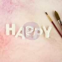 Thread Letters - HAPPY