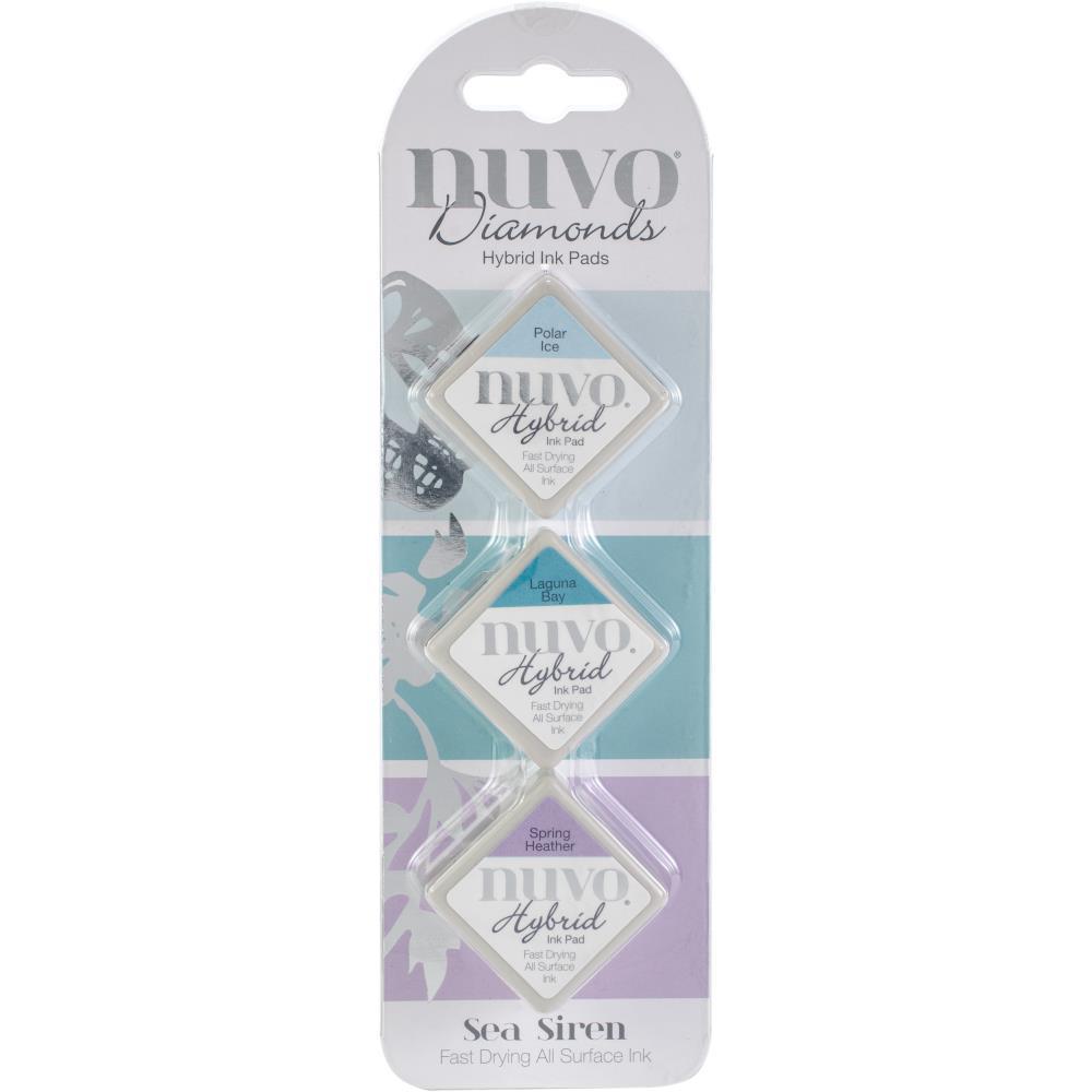 סט 3 כריות דיו Nuvo Diamond Hybrid Ink Pads