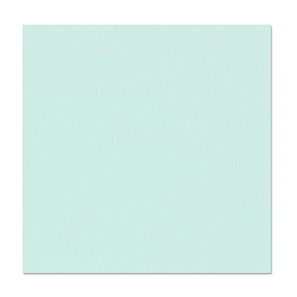 דף קארדסטוק Grasscloth Texture - Turquoise Mist