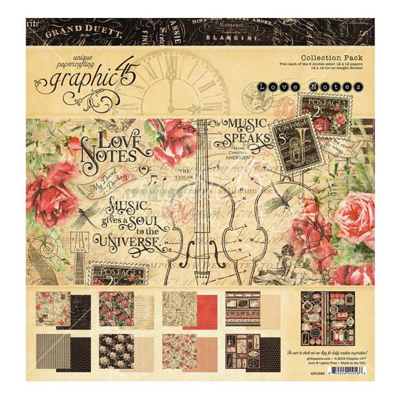 "מארז דפי קארדסטוק ""12 Love Notes Kit"
