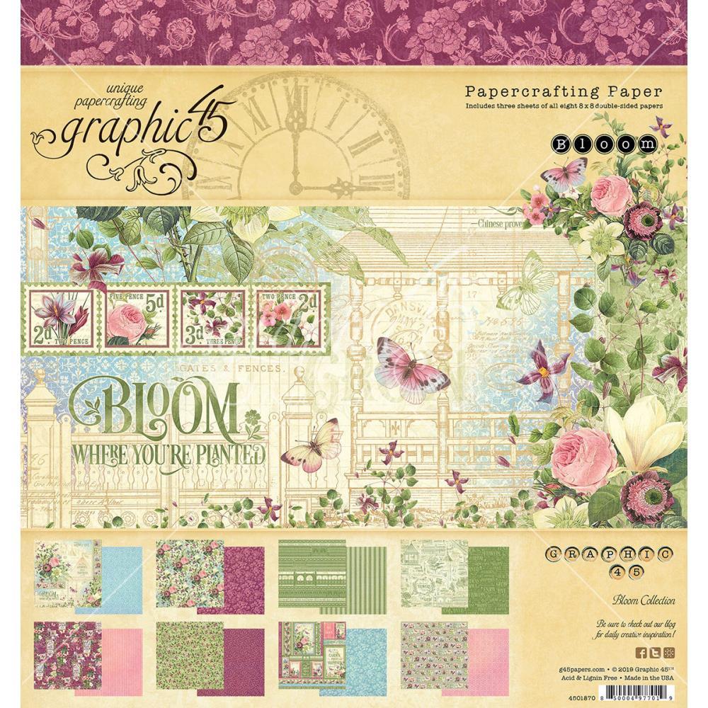 """מארז דפי קארדסטוק """"8 Bloom Paper Pad"""