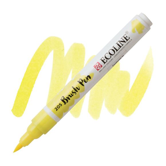 טוש - Ecoline Brushpen 205 lemon yellow
