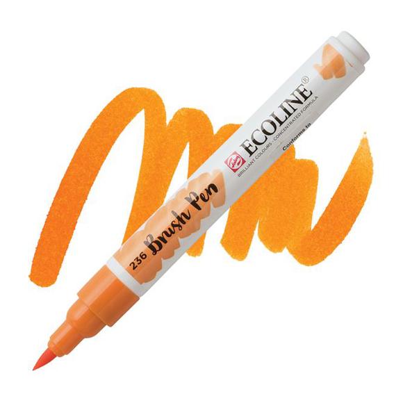 טוש - Ecoline Brushpen 236 light orange