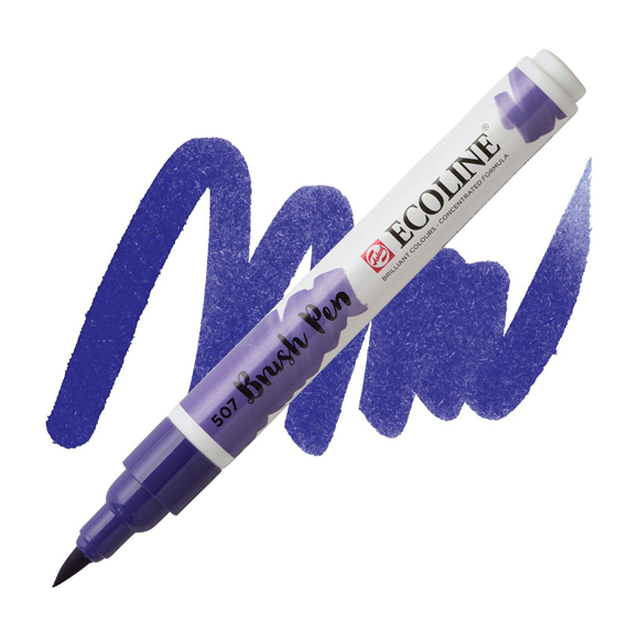 טוש - Ecoline Brushpen 507 ultramarine violet