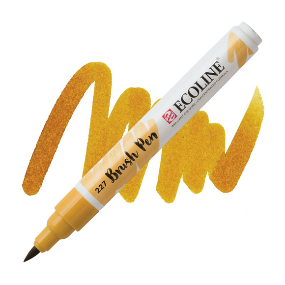 טוש - Ecoline Brushpen 227 yellow ochre
