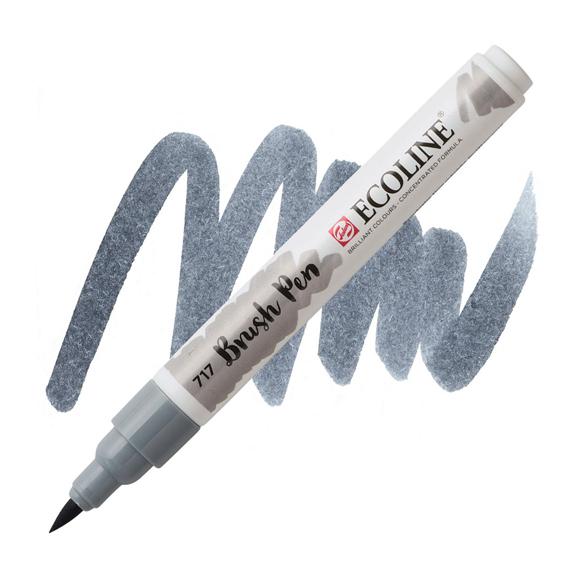 טוש - Ecoline Brushpen 717 cold grey