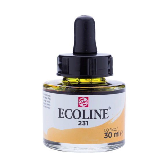 דיו נוזלי - Ecoline Ink 231 Gold Ochre